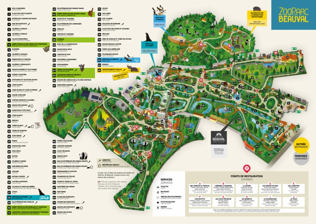 carte zoo de Beauval